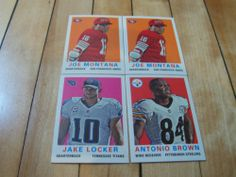 #JoeMontana #AntonioBrown #2013Topps Lot of 4 #1958 #Design #MiniInsertCards | #eBay #footballcards #NFL