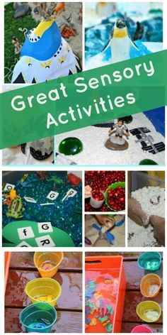 Great Sensory Activities for Kids http://www.sugaraunts.com/2013/12/best-sensory-play-activities-for-kids.html