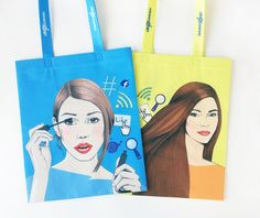 #beauty #woman #illustration #bags