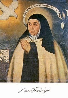 Teresa of Ávila, also called Saint Teresa of Jesus, was a prominent Spanish mystic, Roman Catholic saint, Carmelite nun, an author of the Counter Reformation and theologian of contemplative life through mental prayer. She lived in the 16th century.This is the one portrait of Teresa that is probably the most true to her appearance. It is a copy of an original painting of her in 1576 at the age of 61.