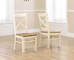 Bonsoni is proud to present this Cuxton Cream and Oak Chairs (Pairs). This is a beautiful, strong, and sturdy Dining Chair. This Cuxton Cream and Oak Chairs (Pairs) has Lacquered finish and Fully Assembled. The rustic nature from the Cuxton Cream and Oak Cream Dining Chairs, Painted Dining Chairs, Dining Room Chairs, Dining Room Furniture, Home Furniture, Oak Chairs, Dining Tables, Dining Area, Solid Oak Furniture