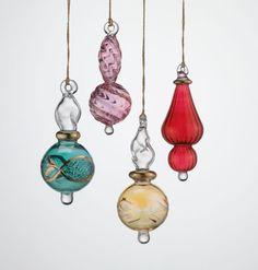 Hand Blown Glass Ornament by TeriSokoloffGlass on Etsy | art ...