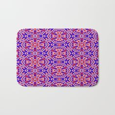 The perfect red, white and blue printed bath mat