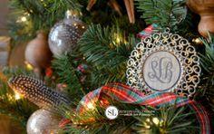 Monogram Christmas Ornaments