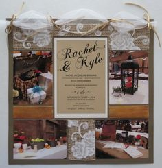 Loving this rustic wedding scrapbook page! So Gorgeous. Never thought of using a lot neutral colors on a wedding layout.