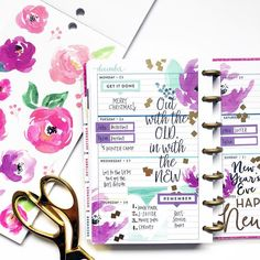 """APRIL (@momruncraft) on Instagram: """"Slow week. Needed to use something other than red and green this week. Soooooo, florals and…"""" Happy Planner"""