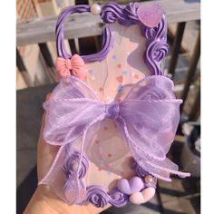 Lavender Purple Ribbon Bow Decoden Custom Phone Case - Iphone XS pro max