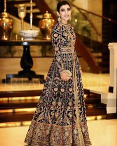 Indian Pakistani Bridal Anarkali Suits & Gowns Collection Wedding Fancy Anarkali suits for Asian brides in best designs and styles. Bridal Anarkali Suits, Pakistani Bridal Dresses, Pakistani Outfits, Indian Outfits, Bridal Lehenga, Indian Party Wear Gowns, Silk Gown, Indian Attire, Bridal Outfits