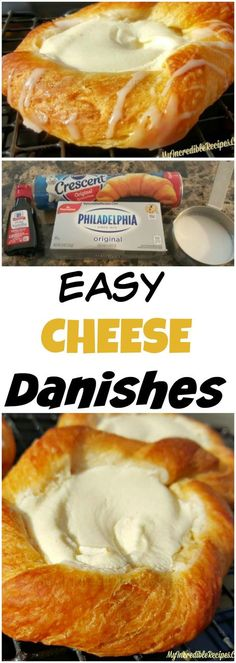 Crescent Cheese Danishes is part of Breakfast recipes So, I& a HUGE fan of making delicious recipes that are EASY This is one of those recipes! It never ceases to amaze me all the things that you - Breakfast Dishes, Breakfast Recipes, Brunch Recipes, Dessert Recipes, Breakfast Ideas, Yummy Recipes, Breakfast Dessert, Breakfast Casserole, Breakfast Cheese Danish