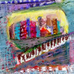City Landscape 2 Painting Print on Wrapped Canvas