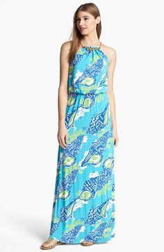 Lilly Pulitzer® Inna Maxi Dress available at #Nordstrom. Would look cute on my girl