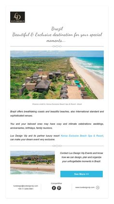 Brazil  Beautiful & Exclusive destinationfor your special moments...