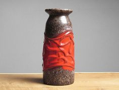1970s fat lava vase by Strehla Keramik (East Germany) on Etsy, Sold