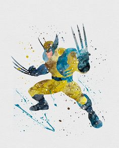 Wolverine Watercolor Art