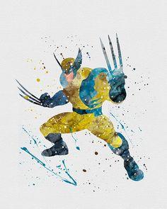 Wolverine Watercolor Art
