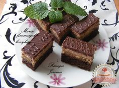 undefined Chocolate Pictures, Love Chocolate, How To Make Chocolate, Hungarian Desserts, Hungarian Recipes, Cake Bars, Some Recipe, Cake Cookies, Healthy Eating