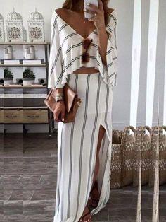 JustFashion Saiki Wanita Turtleneck Musim Panas A-Line Gaun Boho Panel Boho Estilo Boho, Mode Outfits, Skirt Outfits, Miami Outfits, Sundress Outfit, 30 Outfits, Maternity Outfits, Hijab Outfit, Girly Outfits