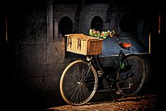 The bicycle (on the streets of Bruges in Belgium) by Trevor Cole on Bruges, Country Life, Belgium, Bicycle, Urban, Street, Bicycle Kick, Country Living, Bike