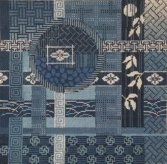 Asian Patchwork cross stitch