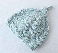 b8bdcc87606 A quick and easy knit baby hat with sizes from preemie to 2  years.Instructions are given for both knitting flat and knitting in the  round.