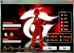 Garena Shell Generator v 4.0 (Updated 2016) Hack