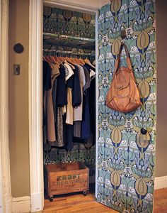 An Ode To Wallpapered Closets: My Favorite Design Trick of All Time – Design*Sponge Home Remodeling Diy, Time Design, Modern Interior Design, Tricks, Foyer, Entryway, House Design, Closets, Bedrooms