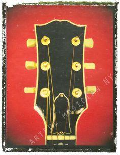 guitar print gibson headstock guitar art print 5 by GuitarArtPrint, $10.00