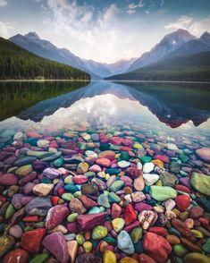 Glacier Montana, Montana Lakes, Glacier Lake, Glacier National Park Montana, Vacation Trips, Vacation Spots, Vacations, Pebble Shore Lake, Places To Travel
