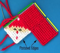 Santa plastic canvas Kisses holder--I made so many of these things back in the 80s. Most of them to look like an Oriole bird.