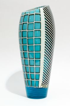 Fused Glass Vase / Clearwater Glass Studio