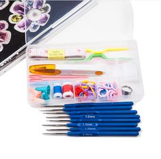 $9.95 Durable and practical Stainless Steel Crochet hooks Needles Stitches knitting Craft Case crochet set in Case Yarn Hook
