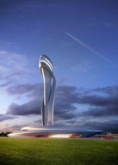 Istanbul New Airport - New air traffic control tower, Istanbul, 2015 - AECOM, Pininfarina
