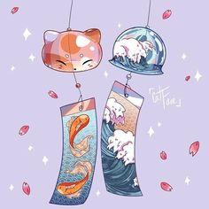 Arte Do Kawaii, Kawaii Art, Cute Kawaii Drawings, Cute Animal Drawings, Japon Illustration, Cute Illustration, Cute Cartoon Wallpapers, Animes Wallpapers, Aesthetic Art