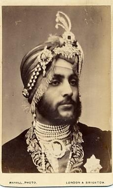 Maharaja Duleep Singh, last Maharaja of the Sikh empire,  in exile in London. A favourite of Queen Victoria