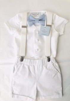 28e1127094 The perfect outfit! White 100% linen shirt with adorable navy blue ...