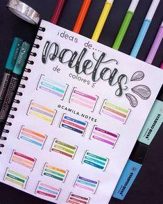 Bullet Journal School, Bullet Journal Lettering Ideas, Bullet Journal Notebook, Bullet Journal Ideas Pages, Bullet Journal Inspiration, Book Journal, School Organization Notes, Stabilo Boss, Hand Lettering Alphabet