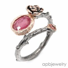 Handmade Fine Art Natural Ruby 925 Sterling Silver Ring Freesize/R34725 #APBJewelry #Ring