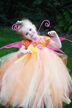 adorable fairy tutu costume with only sewing is sewing elastic waist piece together but that could be tied!