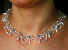 Free pattern for necklace Ameli