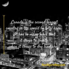Just how big is Canada?