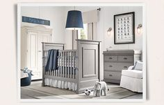 Rooms | Restoration Hardware Baby & Child- For a boy this is almost perfect. And I LOVE the artwork.