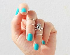European and American brands gold&silver plated Skeleton Joint ring punk ring sets jewelry for women 4 pcs\ lot T-002