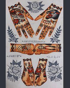 Color Tattoos, Body Tattoos, Hand Tattoos, Tatoos, Old Shool, Tattoo Tradicional, Amsterdam Tattoo, Tattoo Flash Art, Professional Tattoo