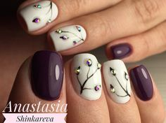 Flower nail art design   Elegant nail design  #Nails #NailsIdeas #Manicure
