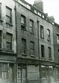 Vintage photograph of 29 Hanbury Street c1967, site of the murder of Annie Chapman on 8 September 1888, Jack the Ripper's 2nd victim