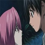 Elfen Lied Lucy and Kouta Kiss by WampiruS.deviantart.com on @deviantART