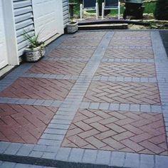 Driveway Design, Paving Stones, Patio Design, Paving Design, Pavement Design, Backyard Landscaping Designs, Outdoor Design
