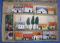 A vintage Erzgebirge Village set. Putz. Pinned by www.mygrowingtraditions.com