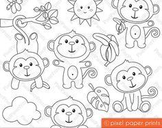 Arctic Animals Digital Stamps Clipart di pixelpaperprints