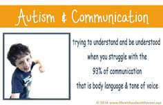 My blog post on realising our son had a communication issue despite being able to talk
